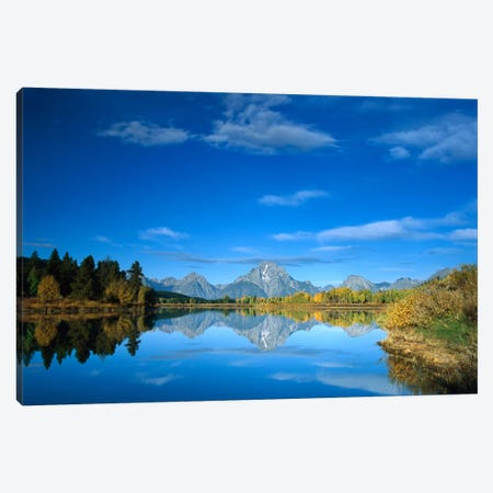 Mt Moran Reflected In Oxbow Bend, Grand Teton National Park, Wyoming Canvas Print #TFI659} by Tim Fitzharris Canvas Art Print