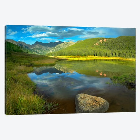Mt Powell And Piney Lake, Colorado I Canvas Print #TFI661} by Tim Fitzharris Canvas Art