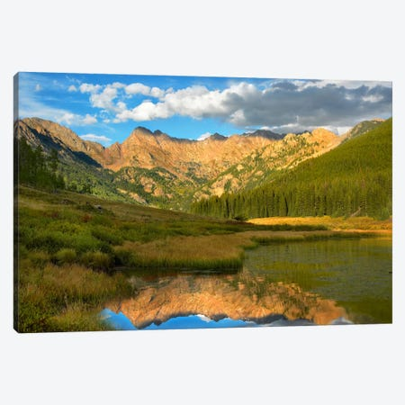 Mt Powell And Piney Lake, Colorado II Canvas Print #TFI662} by Tim Fitzharris Canvas Artwork