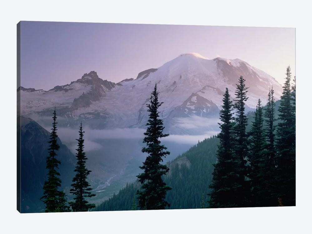 Mt Rainier As Seen At Sunrise, Mt Rainier National Park, Washington I by Tim Fitzharris 1-piece Canvas Art Print