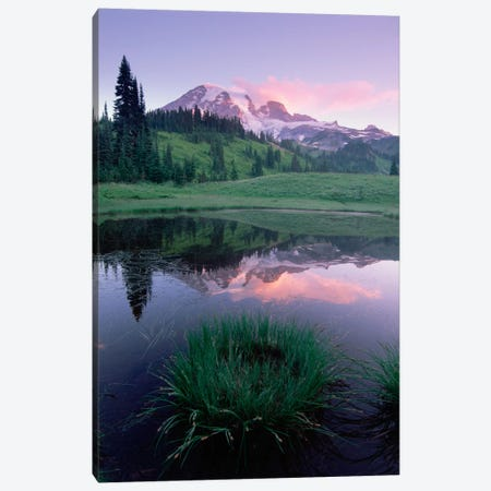 Mt Rainier Reflected In Lake, Mt Rainier National Park, Washington II Canvas Print #TFI667} by Tim Fitzharris Art Print