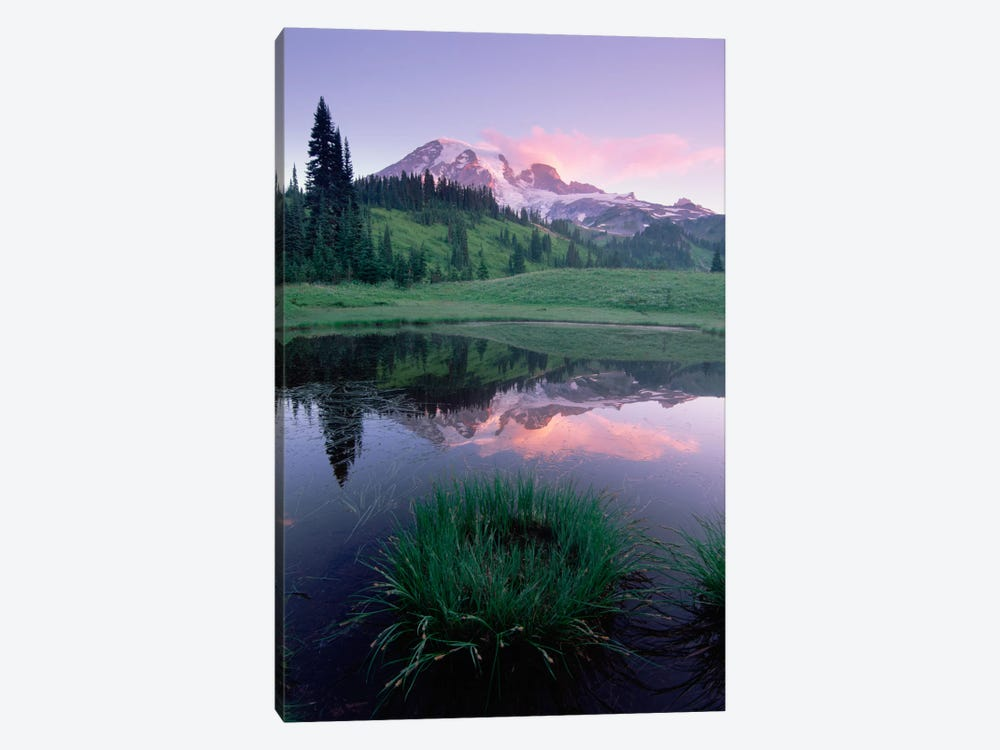 Mt Rainier Reflected In Lake, Mt Rainier National Park, Washington II by Tim Fitzharris 1-piece Canvas Art Print