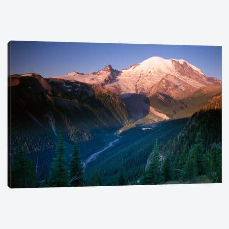 Mt Rainier As Seen At Sunrise, Mt Rainier National Park, Washington II Canvas Print #TFI668} by Tim Fitzharris Canvas Wall Art
