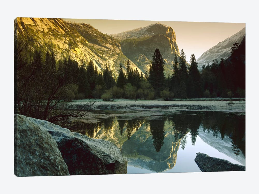 Mt Watkins Reflected In Mirror Lake, Yosemite National Park, California 1-piece Canvas Wall Art