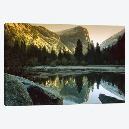 Mt Watkins Reflected In Mirror Lake, Yosemite National Park, California Canvas Print #TFI675} by Tim Fitzharris Canvas Wall Art