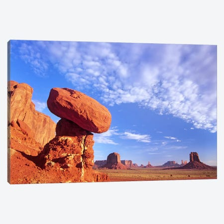 Mushroom Rock In Monument Valley Najavo Tribal Park, Arizona Canvas Print #TFI678} by Tim Fitzharris Canvas Art Print