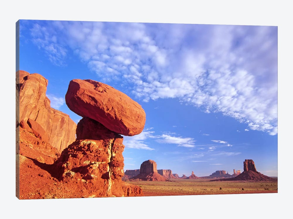 Mushroom Rock In Monument Valley Najavo Tribal Park, Arizona by Tim Fitzharris 1-piece Canvas Print