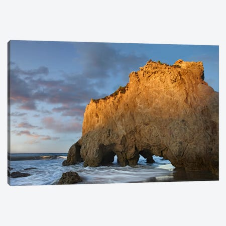 Natural Bridge On El Matador State Beach, California Canvas Print #TFI680} by Tim Fitzharris Canvas Art