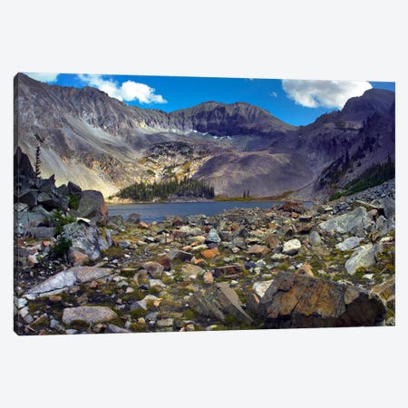 Nokhu Crags, Hornfel Layers Carved By Glaciers, Medicine Bow Range, Colorado I Canvas Print #TFI682} by Tim Fitzharris Canvas Wall Art