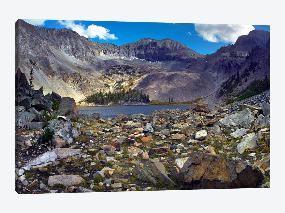 Nokhu Crags, Hornfel Layers Carved By Glaciers, Medicine Bow Range, Colorado I by Tim Fitzharris 1-piece Canvas Artwork