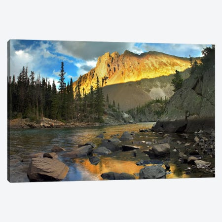 Nokhu Crags, Hornfel Layers Carved By Glaciers, Medicine Bow Range, Colorado II Canvas Print #TFI683} by Tim Fitzharris Canvas Artwork