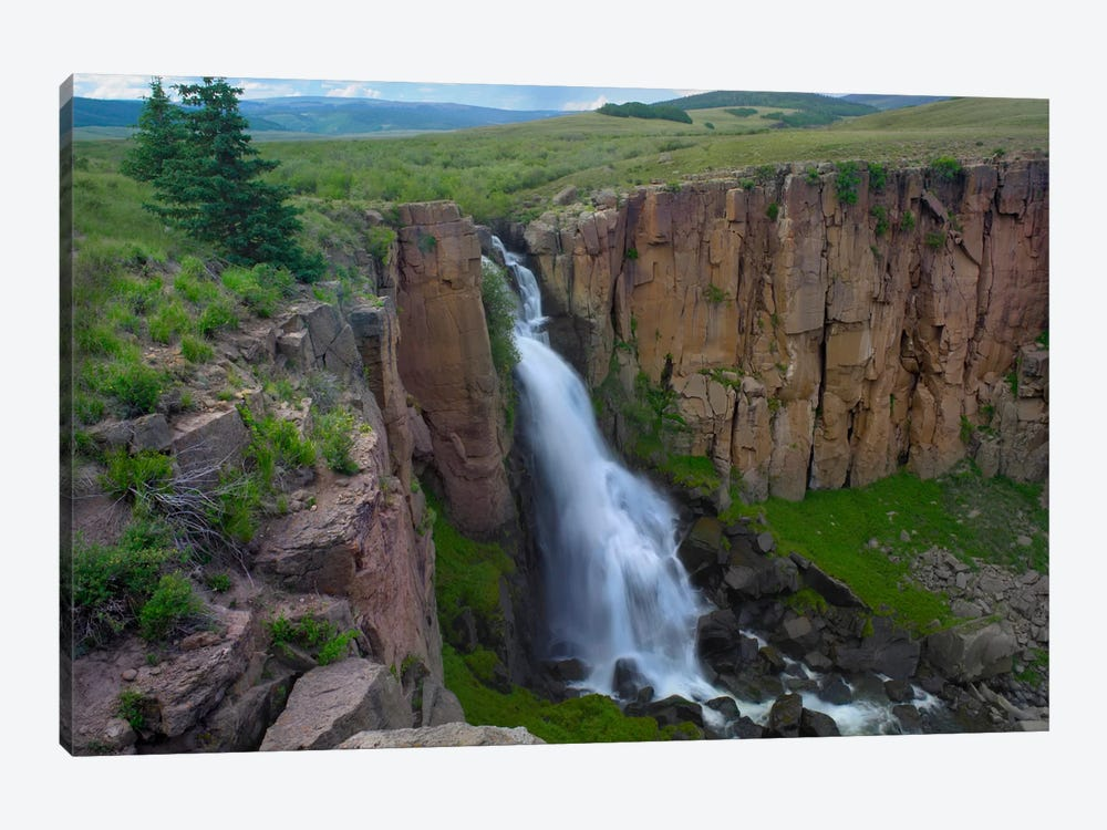 North Clear Creek Falls Cascading Down Cliff, Colorado II by Tim Fitzharris 1-piece Canvas Print