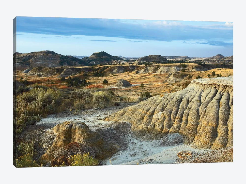Badlands, South Unit, Theodore Roosevelt National Park, North Dakota by Tim Fitzharris 1-piece Canvas Art Print