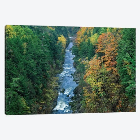Ottauquechee River And Quechee Gorge, Vermont Canvas Print #TFI746} by Tim Fitzharris Canvas Art