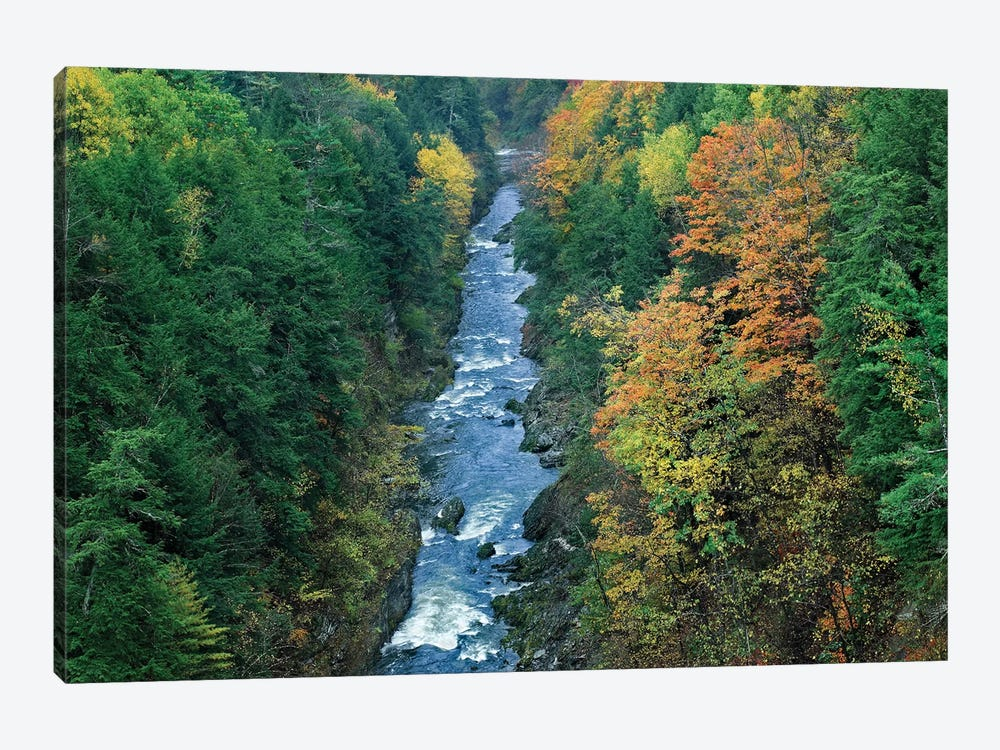 Ottauquechee River And Quechee Gorge, Vermont by Tim Fitzharris 1-piece Canvas Art Print