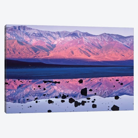 Panamint Range Reflected In Standing Water At Badwater, Death Valley National Park, California Canvas Print #TFI764} by Tim Fitzharris Canvas Art
