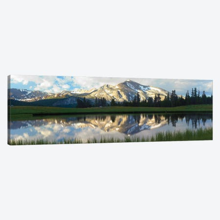 Panorama Of Mammoth Peak And Kuna Crest Reflected In Seasonal Pool,Upper Dana Meadow, Yosemite National Park, California Canvas Print #TFI766} by Tim Fitzharris Canvas Wall Art