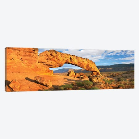Panorama Of Sunset Arch, Escalante National Monument, Utah Canvas Print #TFI768} by Tim Fitzharris Canvas Print
