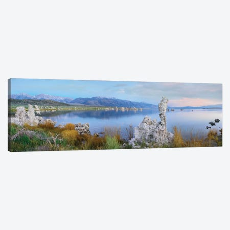 Panorama Of Tufa Towers At Mono Lake With The Eastern Sierra Nevada In The Background, California Canvas Print #TFI769} by Tim Fitzharris Canvas Print