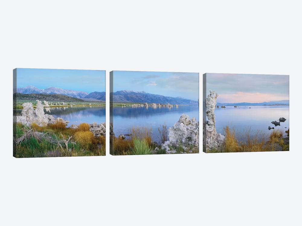 Panorama Of Tufa Towers At Mono Lake With The Eastern Sierra Nevada In The Background, California by Tim Fitzharris 3-piece Canvas Art