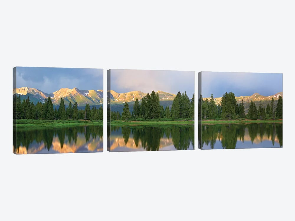 Panorama Of West Needle Mountains, Weminuche Wilderness, Colorado by Tim Fitzharris 3-piece Canvas Wall Art