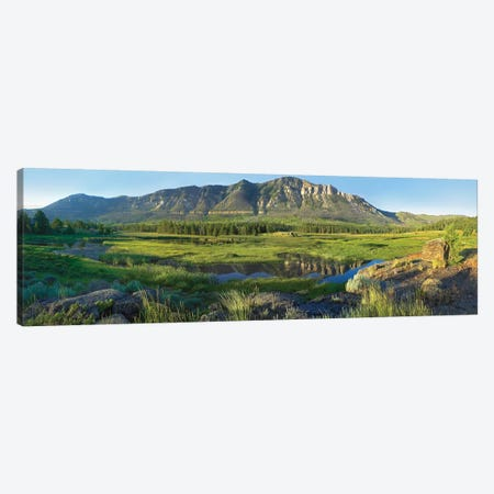 Panorama View Of Windy Mountain, Wyoming Canvas Print #TFI771} by Tim Fitzharris Canvas Wall Art