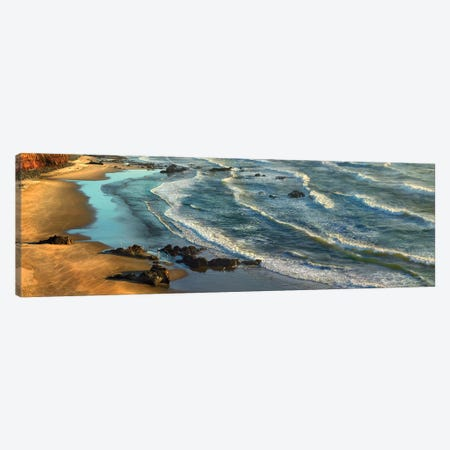Panoramic View Of Incoming Waves At Bandon Beach, Oregon Canvas Print #TFI773} by Tim Fitzharris Canvas Art