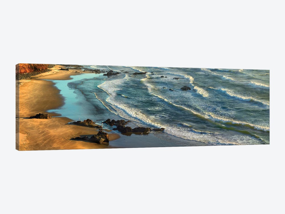 Panoramic View Of Incoming Waves At Bandon Beach, Oregon by Tim Fitzharris 1-piece Canvas Art Print