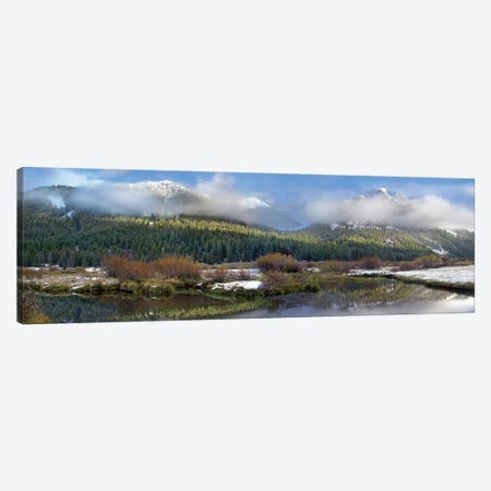Panoramic View Of The Pioneer Mountains, Idaho Canvas Print #TFI775} by Tim Fitzharris Art Print
