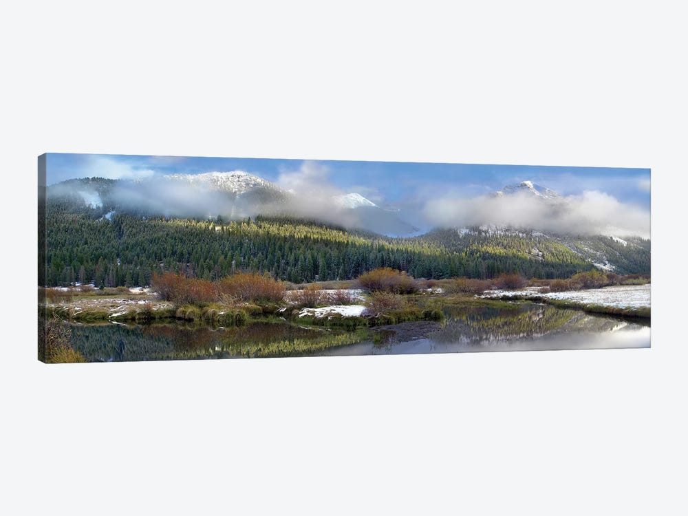 Panoramic View Of The Pioneer Mountains, Idaho by Tim Fitzharris 1-piece Canvas Print