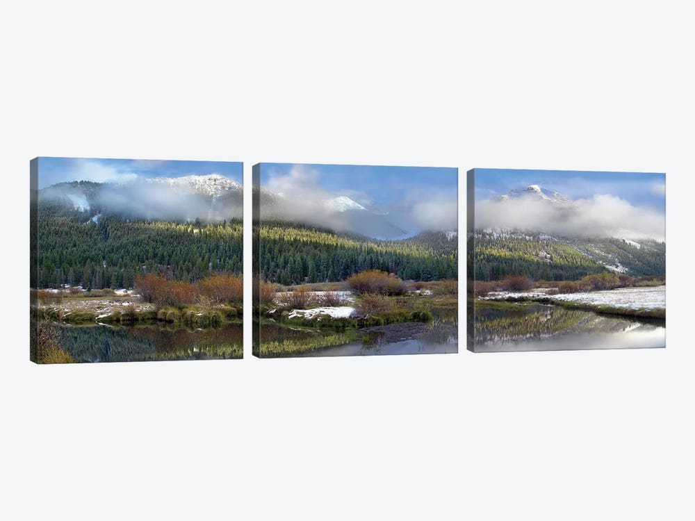 Panoramic View Of The Pioneer Mountains, Idaho by Tim Fitzharris 3-piece Canvas Print