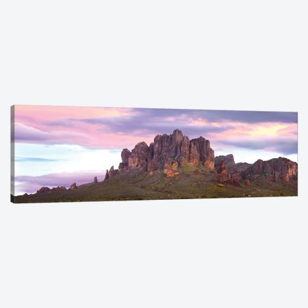 Panoramic View Of The Superstition Mountains At Sunset, Arizona Canvas Print #TFI776} by Tim Fitzharris Art Print