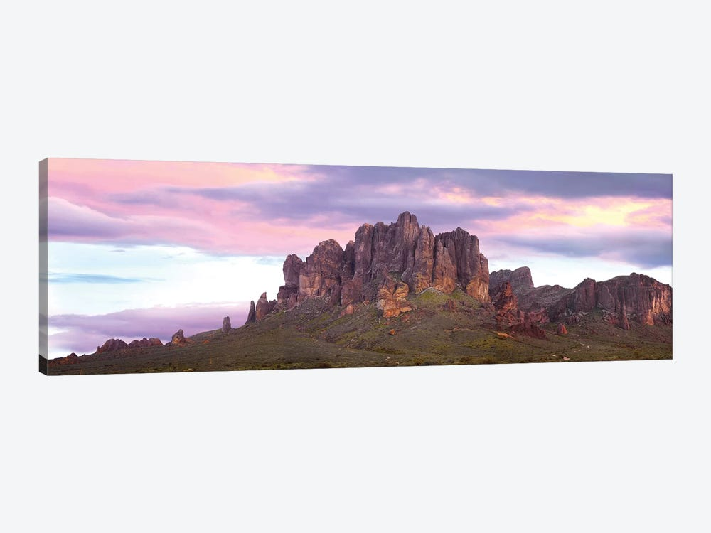 Panoramic View Of The Superstition Mountains At Sunset, Arizona by Tim Fitzharris 1-piece Canvas Art