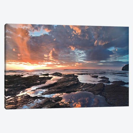 Pelada Beach At Sunset, Costa Rica Canvas Print #TFI785} by Tim Fitzharris Canvas Art