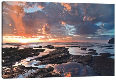 Pelada Beach At Sunset, Costa Rica Canvas Art Print