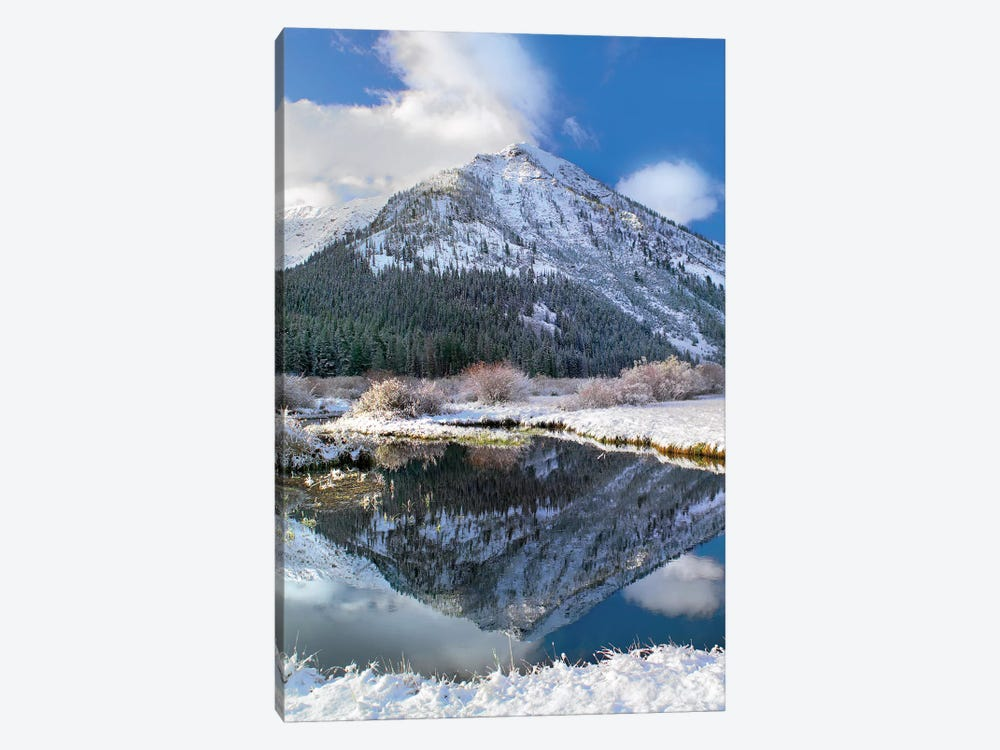 Phi Kappa Mountain Reflected In River, Idaho by Tim Fitzharris 1-piece Canvas Art