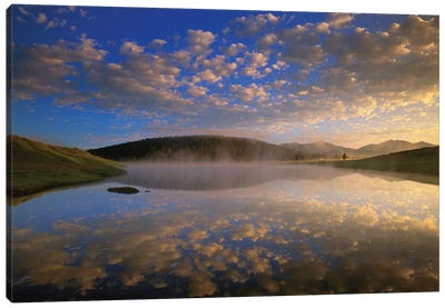 Absaroka Range Reflected In Lake, Yellowstone National Park, Wyoming Canvas Art Print