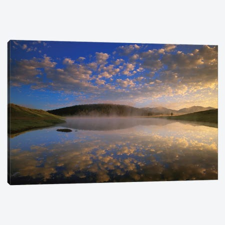 Absaroka Range Reflected In Lake, Yellowstone National Park, Wyoming Canvas Print #TFI7} by Tim Fitzharris Canvas Art Print