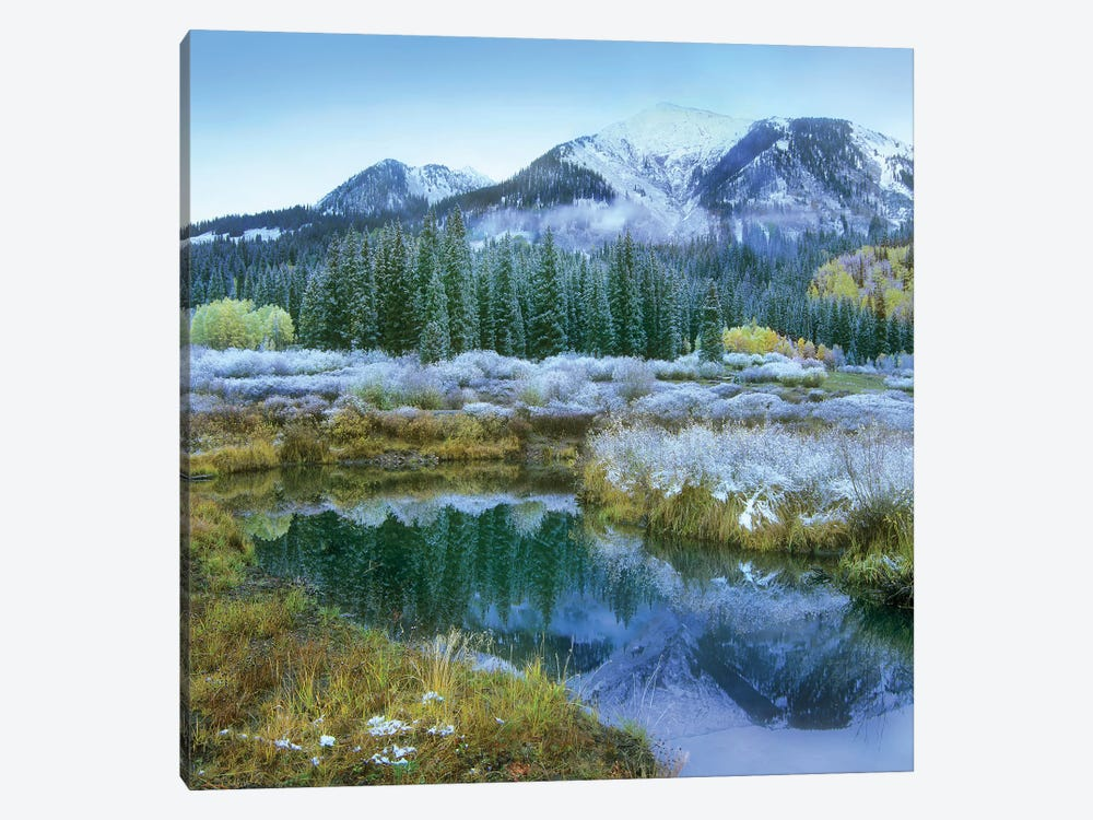 Pond And Avery Peak, San Juan Mountains, Colorado 1-piece Canvas Print