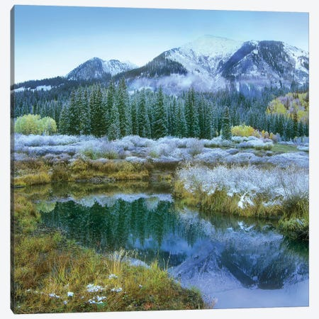 Pond And Avery Peak, San Juan Mountains, Colorado Canvas Print #TFI802} by Tim Fitzharris Canvas Art