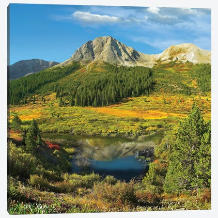 Pond And Green Mountain, Green Mountain National Forest, Colorado Canvas Print #TFI803} by Tim Fitzharris Canvas Wall Art