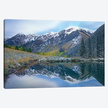 Pond And Mountains, Maroon Bells-Snowmass Wilderness Area, Colorado Canvas Print #TFI804} by Tim Fitzharris Canvas Art Print