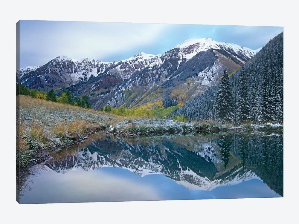 Pond And Mountains, Maroon Bells-Snowmass Wilderness Area, Colorado by Tim Fitzharris 1-piece Canvas Print