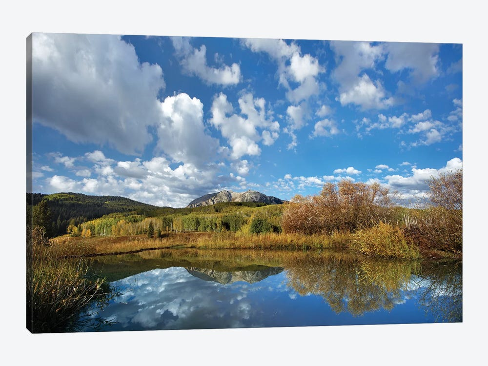 Pond Near East Beckwith Mountain, West Elk Wilderness, Colorado by Tim Fitzharris 1-piece Canvas Artwork