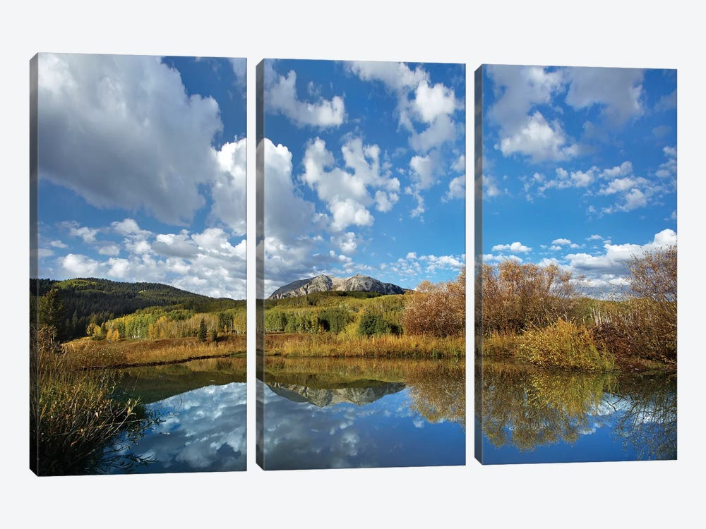 Pond Near East Beckwith Mountain, West Elk Wilderness, Colorado by Tim Fitzharris 3-piece Canvas Art