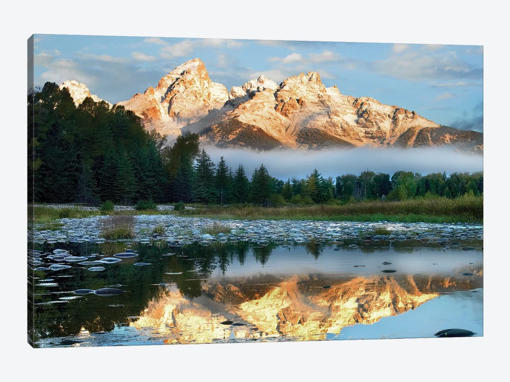 Pond Reflecting Grand Tetons, Grand Teton National Park, Wyoming 1-piece Canvas Art