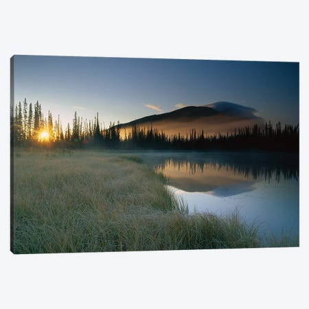 Pond Reflecting Nisling Range, Yukon Territory, Canada Canvas Print #TFI808} by Tim Fitzharris Canvas Art