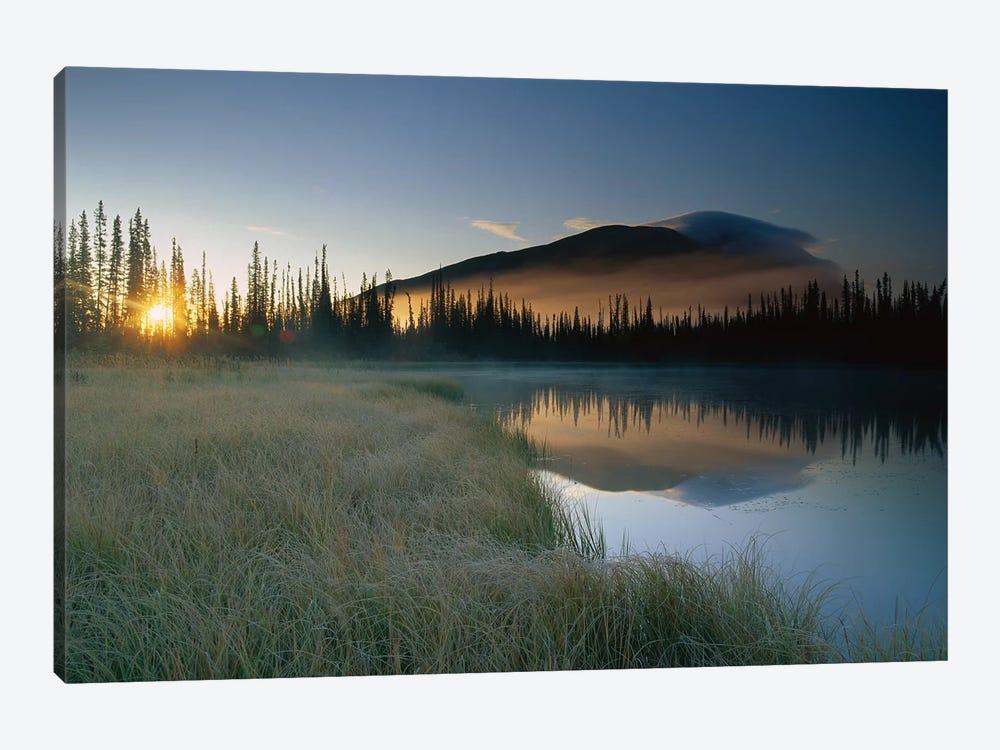 Pond Reflecting Nisling Range, Yukon Territory, Canada by Tim Fitzharris 1-piece Canvas Art Print