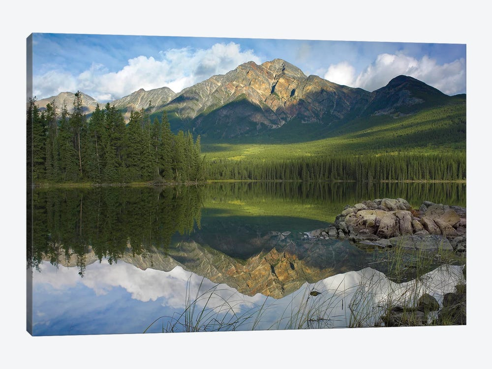 Pyramid Mountain And Pyramid Lake, Jasper National Park, Alberta, Canada by Tim Fitzharris 1-piece Art Print
