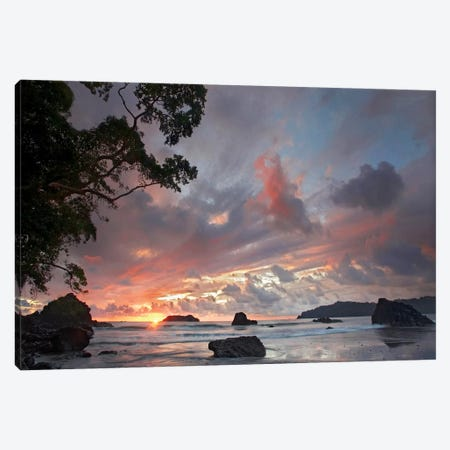 Beach And Coastline, Manuel Antonio National Park, Costa Rica Canvas Print #TFI83} by Tim Fitzharris Canvas Wall Art